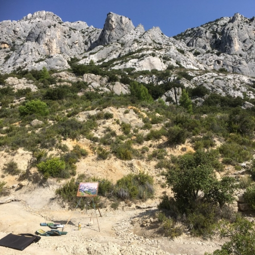 Drawing on the Montagne Sainte Victoire (F)